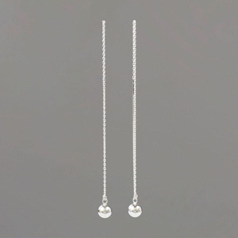 Long Threader Earrings in Sterling Silver