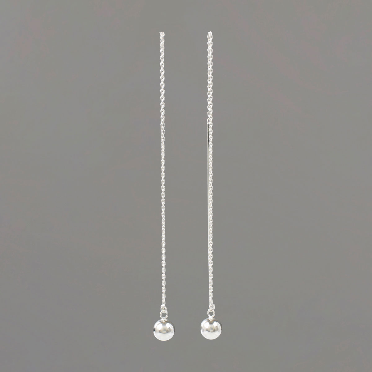 Long Threader Earrings in Sterling Silver