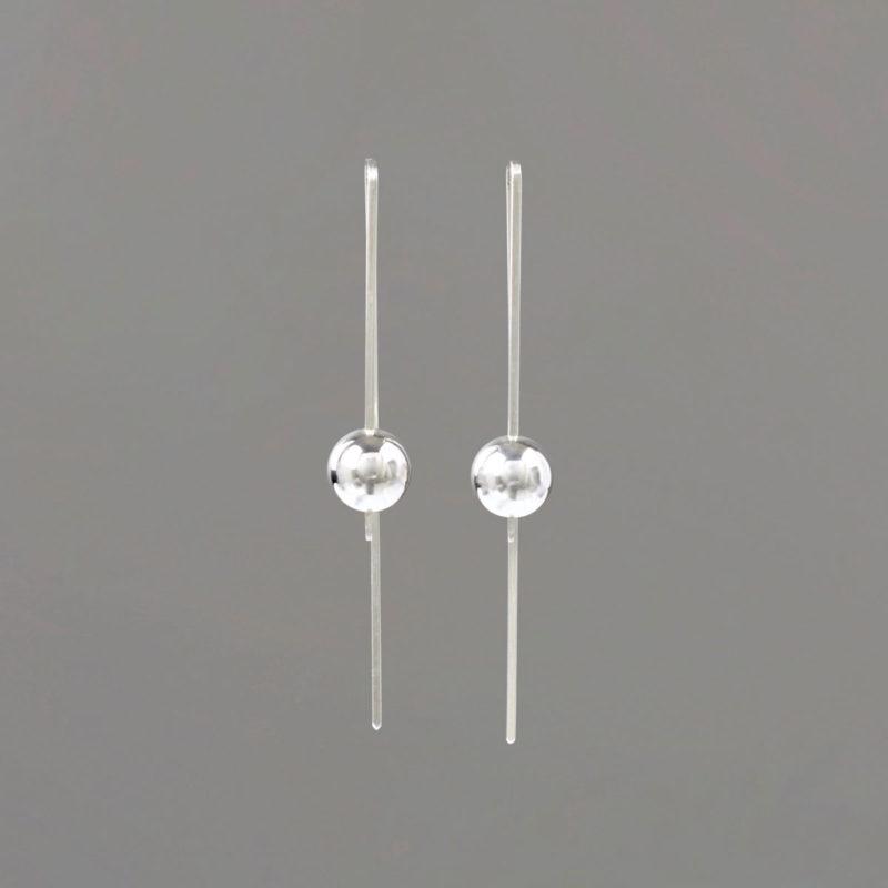Rectangular Earring in Sterling Silver