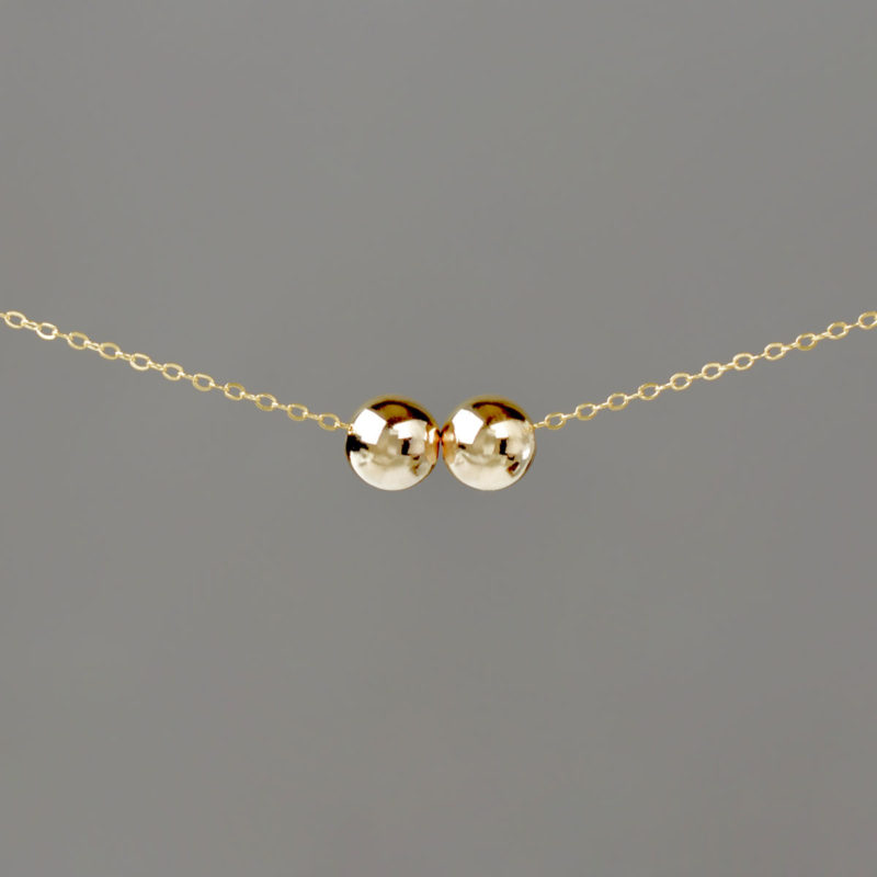 Large Gold Balls on Gold Cable Chain
