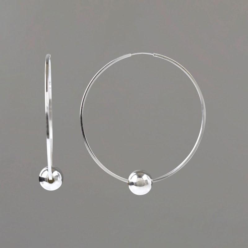 Large Hoop Earrings in Sterling Silver