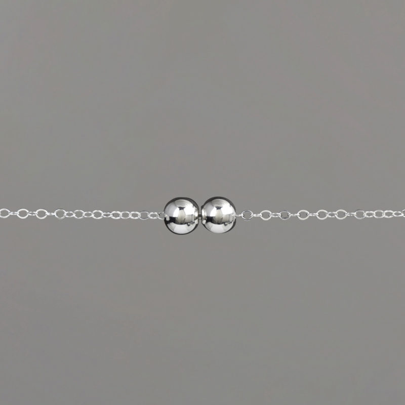 Medium Balls Cable Chain Bracelet in Sterling | A Woman With Balls | Boise, ID