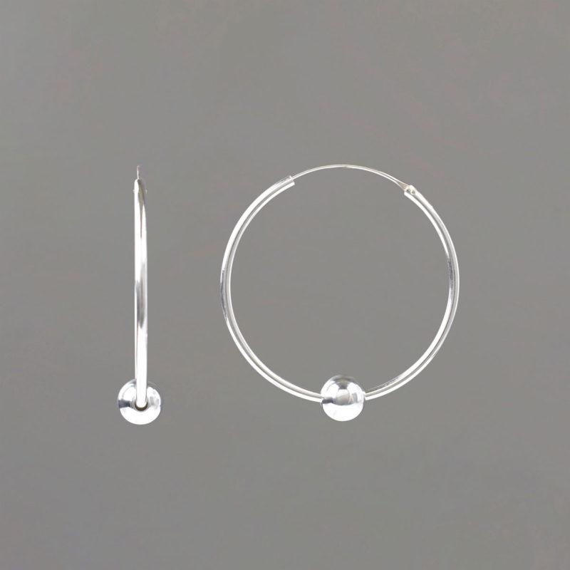 Medium Hoop Earrings in Sterling Silver