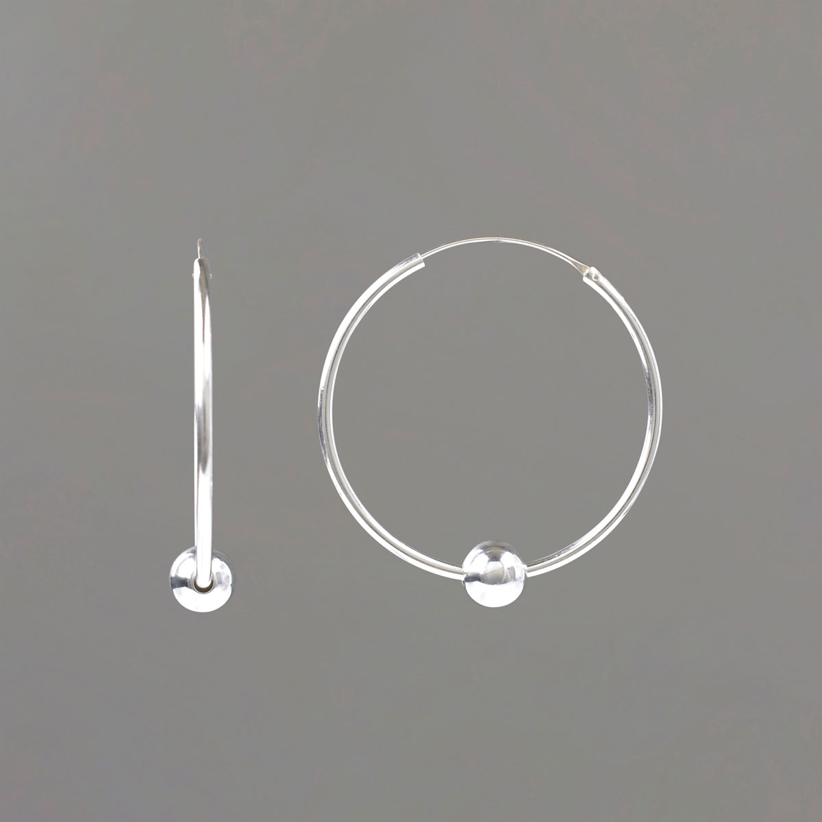 Medium Hoop Earrings in Sterling Silver