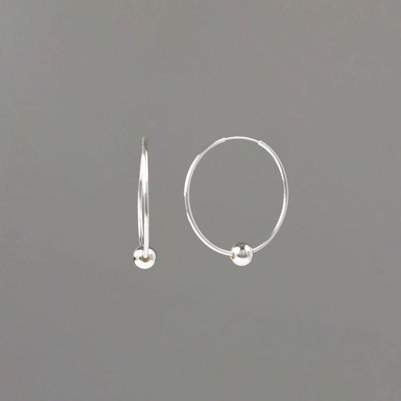Small Hoop Earrings in Sterling Silver