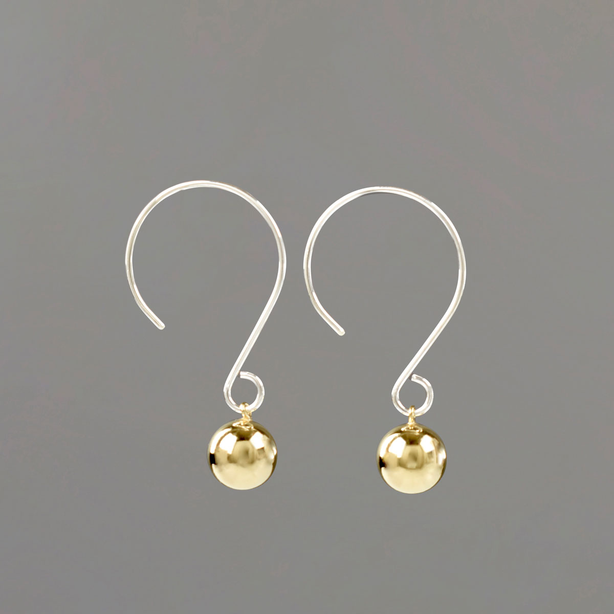 Round Wire Drop Earrings
