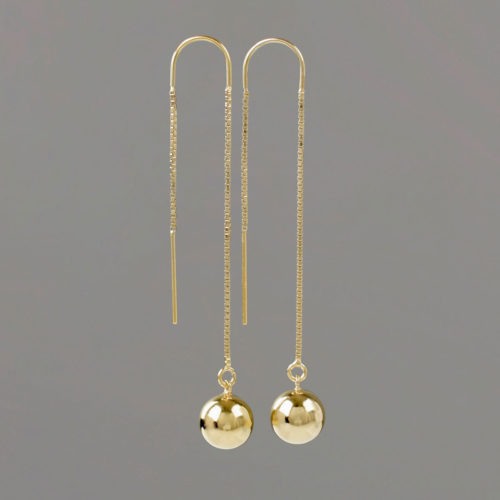 U Threader Earrings in Gold