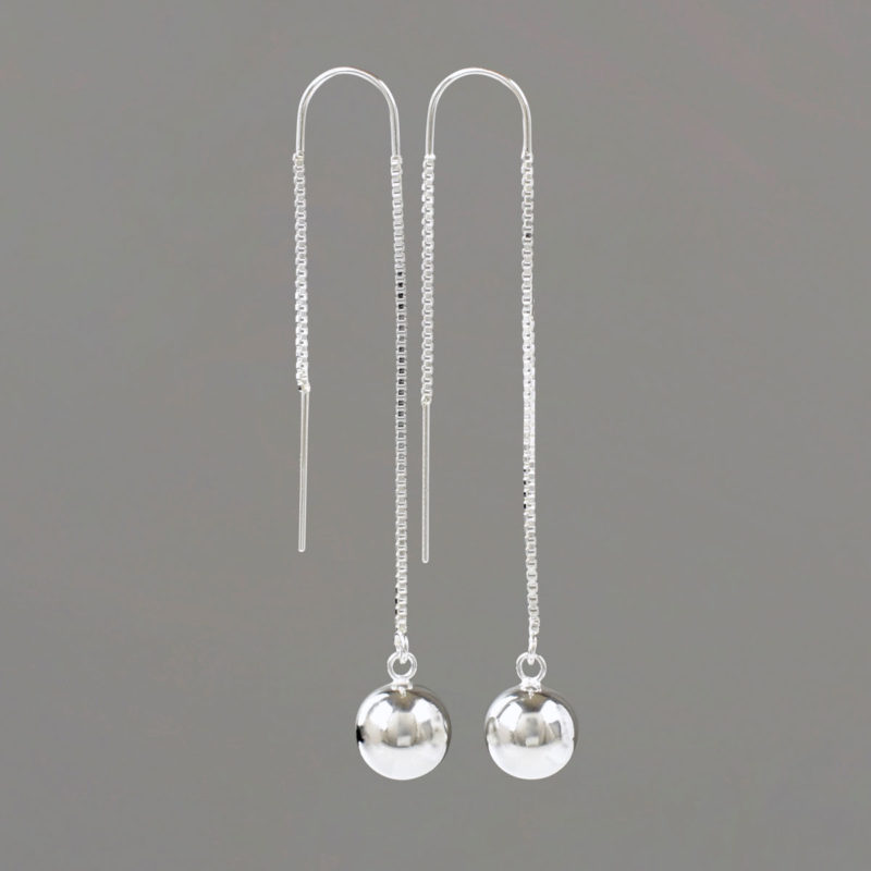 U Threader Earrings in Sterling Silver